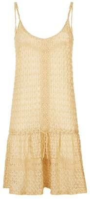 Melissa Odabash Khloe Metallic Knit Dress