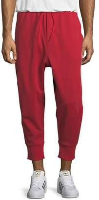 Y-3 3-Stripe French Terry Track Pants, Red