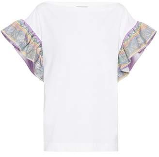 Emilio Pucci Cotton and silk T-shirt