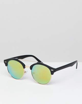 Jeepers Peepers Retro Sunglasses In Tinted Lens