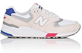 New Balance Men's 999 Suede & Mesh Sneakers-White