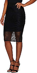 G.I.L.I. got it love it G.I.L.I. Slim Pencil Skirt with Mesh Overlay