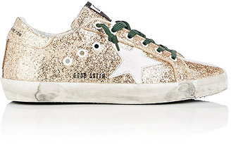 Golden Goose Women's Superstar Glitter Sneakers $480 thestylecure.com