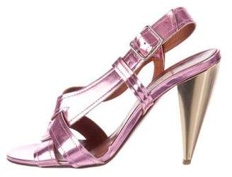 Lanvin Patent Leather Multistrap Sandals