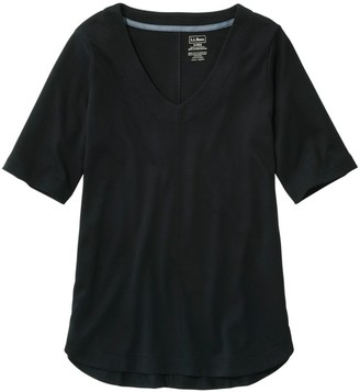 L.L. Bean L.L.Bean Women's Pima Cotton Tee, V-Neck Tunic