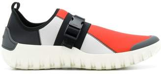 Prada colour block buckled sneakers