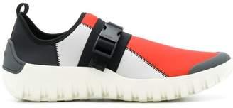 Prada colour block buckled sneakers
