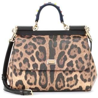 Dolce & Gabbana Sicily Medium leopard shoulder bag
