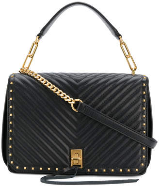 Rebecca Minkoff chevron style top handle tote