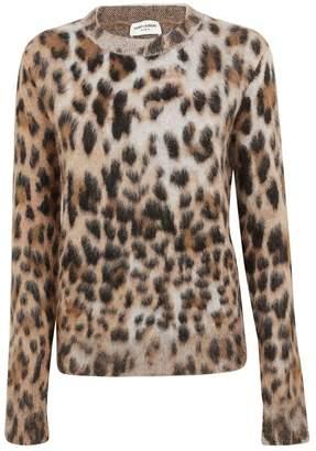 Saint Laurent Leopard Motif Sweater