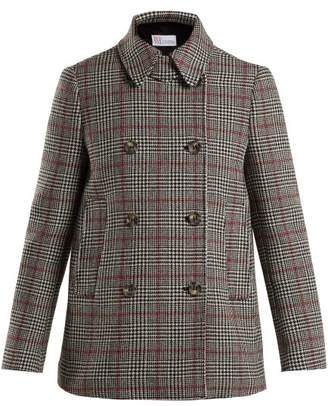 RED Valentino Prince Of Wales Checked Wool Blend Jacket - Womens - Grey Multi