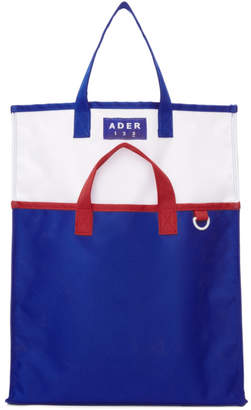 ADER error Blue and White Twin Tote