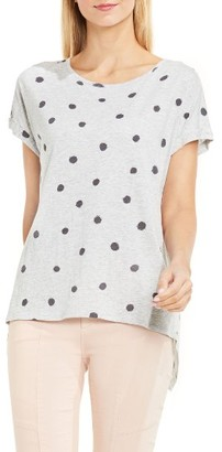 Women's Two By Vince Camuto Polka Dot Split Back Tee $49 thestylecure.com