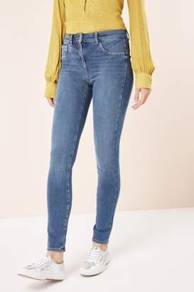 Next Womens Mid 360 Super Skinny Jeans - Blue