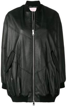 Giamba zipped-up bomber jacket