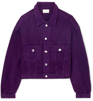Simon Miller Cropped Denim Jacket - Purple