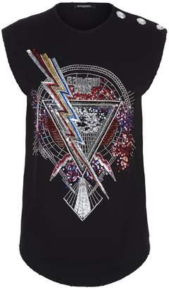 Balmain Embellished Sleeveless T-Shirt