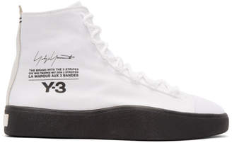 Y-3 Y 3 White Bashyo High-Top Sneakers