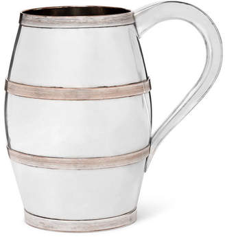 Foundwell - Crest-detailed Sterling Silver Mug - Silver