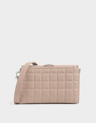 Charles & Keith Removable Quilted Pouch Boxy Shoulder Bag