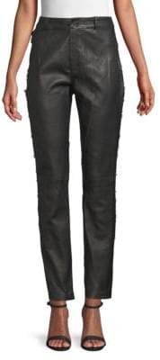 Fleur Du Mal Lace Leather Pants
