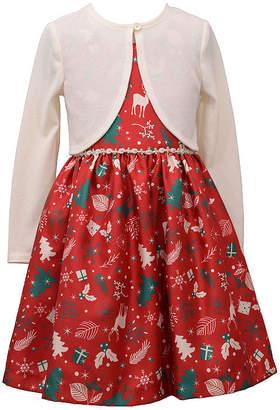 Bonnie Jean Girls Long Sleeve Dress Set - Preschool / Big Kid