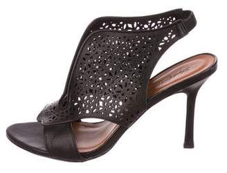 Elizabeth and James Leather Laser Cut Sandals