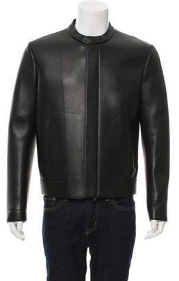 Fendi Leather Neoprene Jacket
