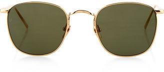 Gold Square Frame Sunglasses