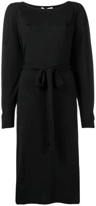 Agnona long sleeve belted dress