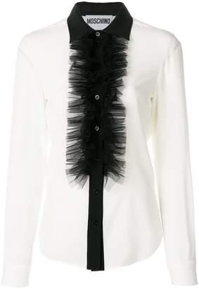 Moschino ruffled silk blouse