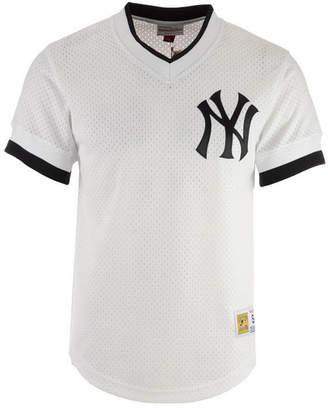 Mitchell & Ness Men's New York Yankees Mesh V-Neck Jersey