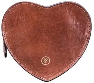 At Harvey Nichols Maxwell Scott Bags Elegant Tan Leather Heart Shaped Handbag Tidy
