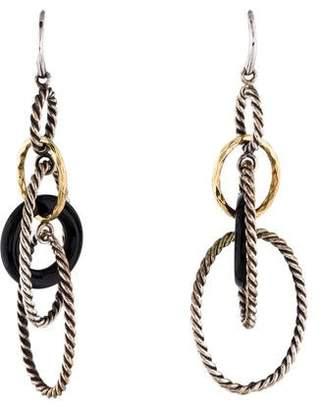 David Yurman Onyx Oval Drop Earrings