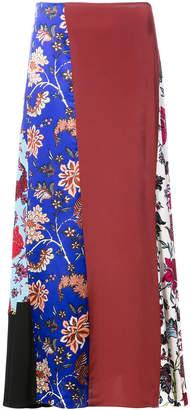 Diane von Furstenberg floral patchwork skirt