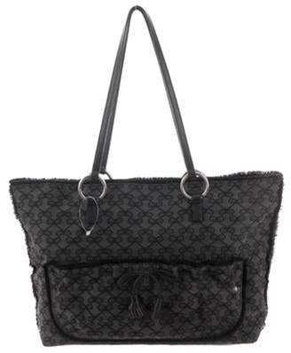 Anya Hindmarch Leather-Trimmed Tote Black Leather-Trimmed Tote