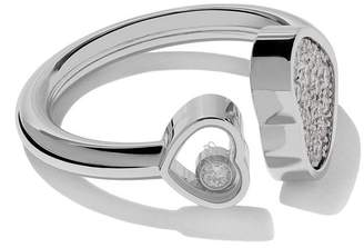 Chopard 18kt white gold Happy Hearts diamond ring