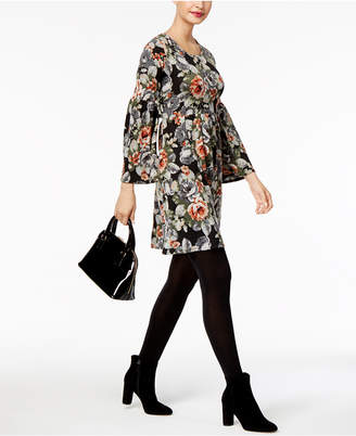 NY Collection Petite Printed Empire-Waist Dress