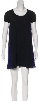Sacai Luck Eyelet Paneled Mini Dress