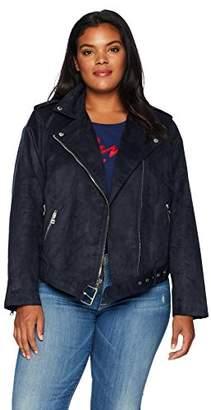 Levi's Women's Plus Size Faux Suede Motorcycle Jacket