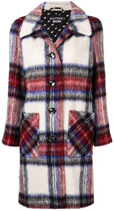 Moschino plaid single breasted coat