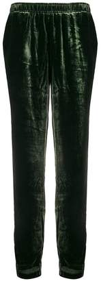 Gold Hawk velvet track trousers