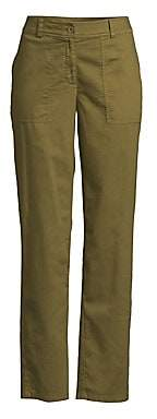 Eileen Fisher Women's Cropped Wide Leg Cargo Ankle Pants - Size 0