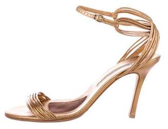 Brian Atwood Metallic High-Heel Sandals