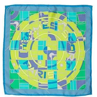Hermes Sport Silk Pocket Square