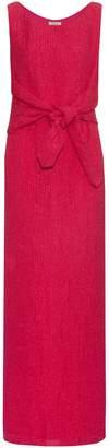Nina Ricci Tie-waist silk-blend cloqué gown