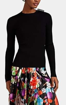 Balenciaga Women's Rib-Knit Top - Black