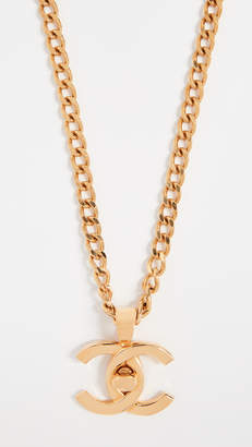 Chanel What Goes Around Comes Around Turn Lock Necklace