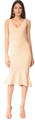 L'AGENCE Lucia V Neck Dress $425 thestylecure.com