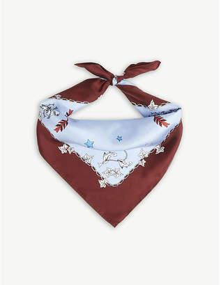 Sandro Lion silk scarf